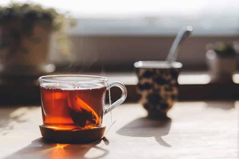 thé vert gueule de bois