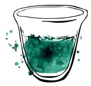 spiruline dans un verre